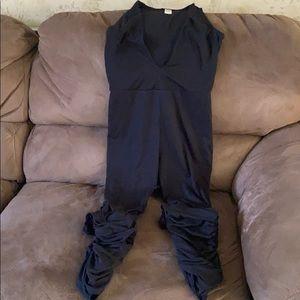 Stacked V-neck Jumpsuit